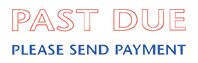 3299 - 3299 Jumbo Past Due Stamp