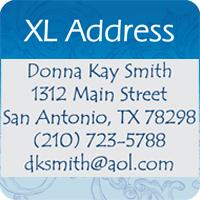 XL Address Stamps