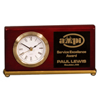 5C1401 - 5C1401 - 4` x 7-1/2` Desk Clock with Plate