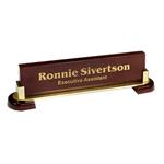 5C1607 - 5C1607 - 3-1/4` x 12-1/2`  Laser Engraved Desk Name Bar