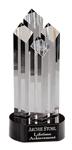 "5C2204 - 5C2204 - 9"" Crystal 4-Column Award"