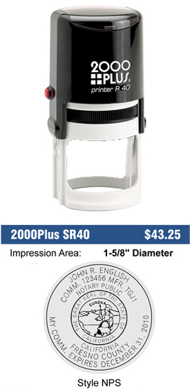 SR40 Round California Notary Stamp