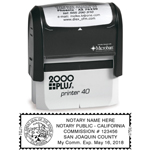 S40NPS - S40 Self-Inking Stamp California Notary