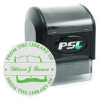 "4141 - PSI 4141<br>1-5/8"" x 1-5/8"" Pre-Inked Monogram Stamp"