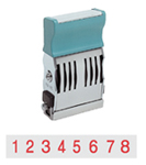 XS-72011 - 72011 - Pre-Inked Number Stamp - Red Ink