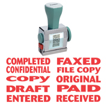 XS-81041 - 10-in-1 Phrase Stamp - Red Ink